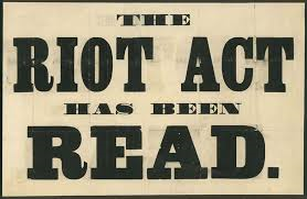 1 the riot act