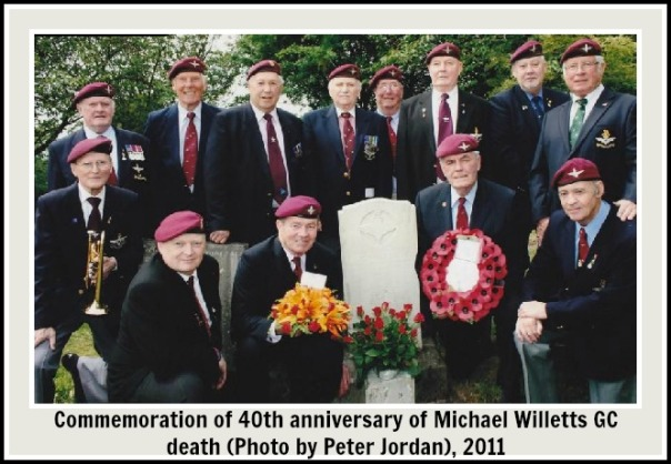 Commemoration of 40th anniversary of Michael Willetts GC deatth