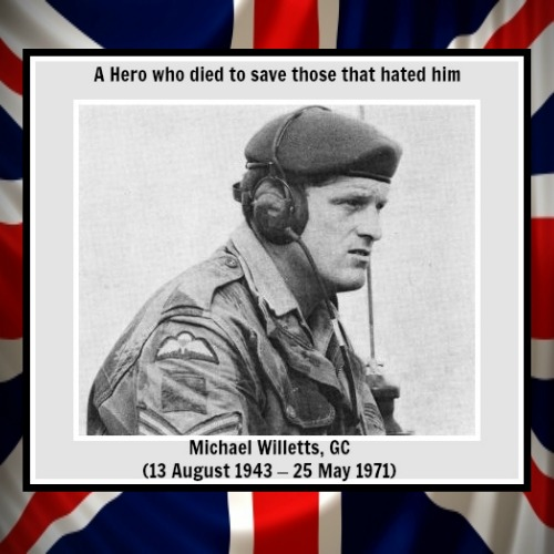 Sgt Michael Willett hero union jack