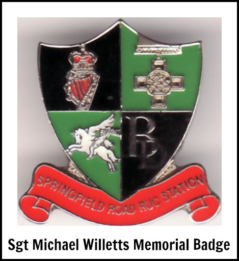 Sgt Michael Willetts Memorial Badge
