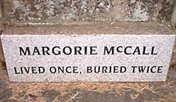 mar mccall headstone