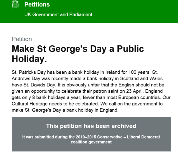 st goerges day petition