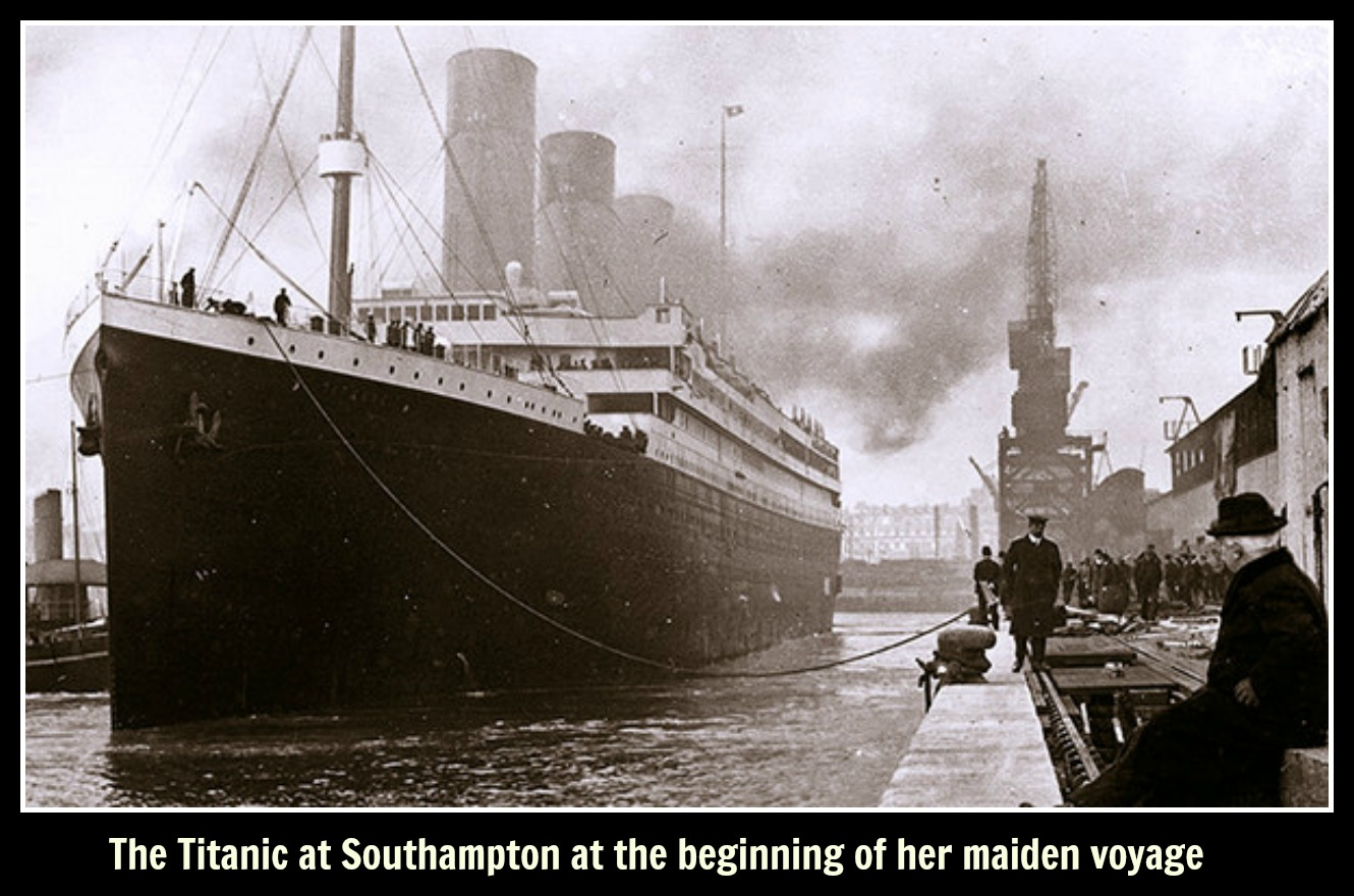 titanic at southampton text