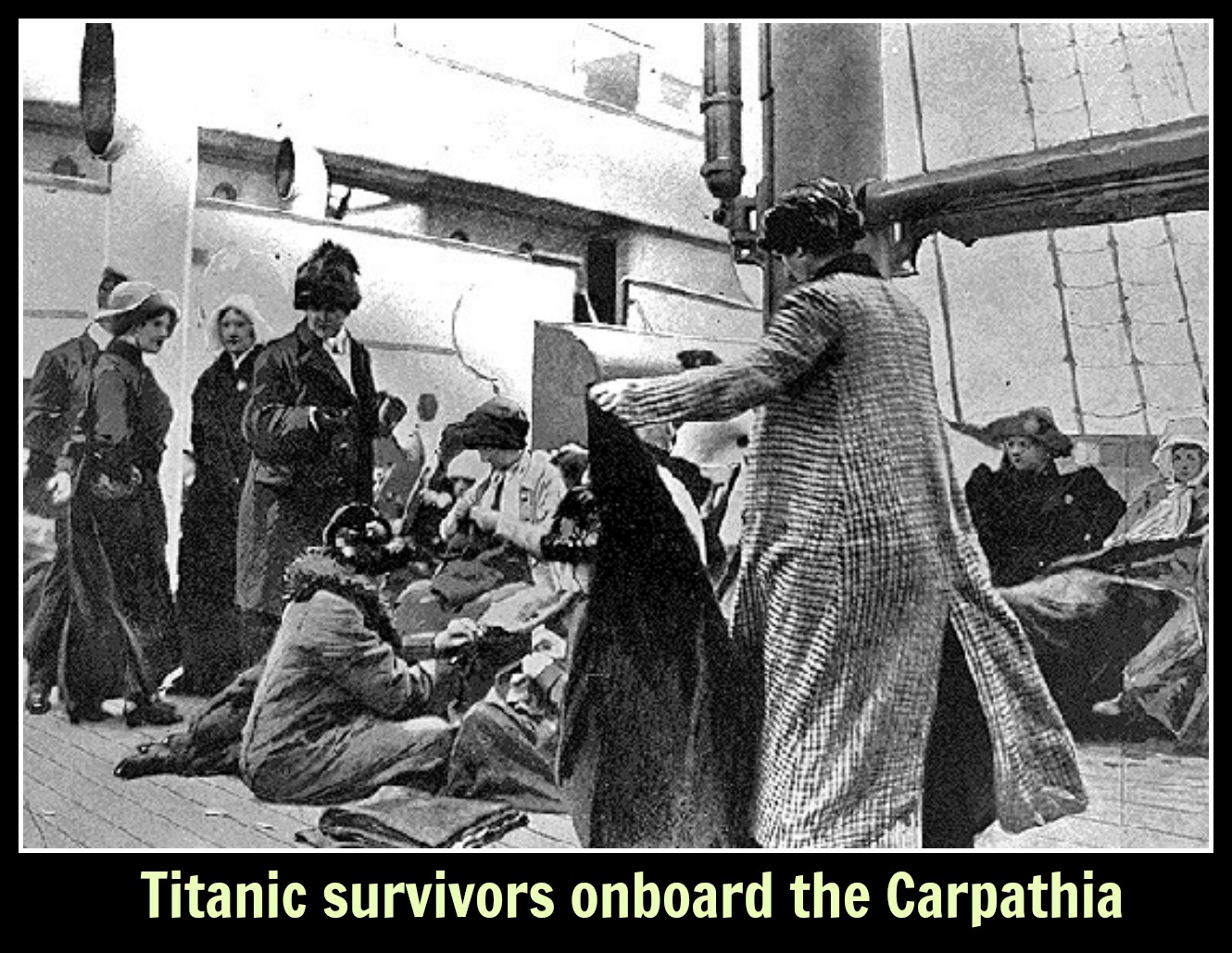 Titanic survivors onboard the Carpathia text