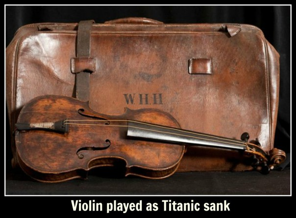 titanic Violin played as Titanic sank text