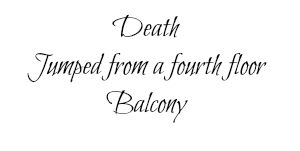 deaths jump from balcony
