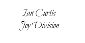 Ian Curtis 2 name tag