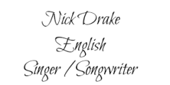 Nick Drake 2 name tag