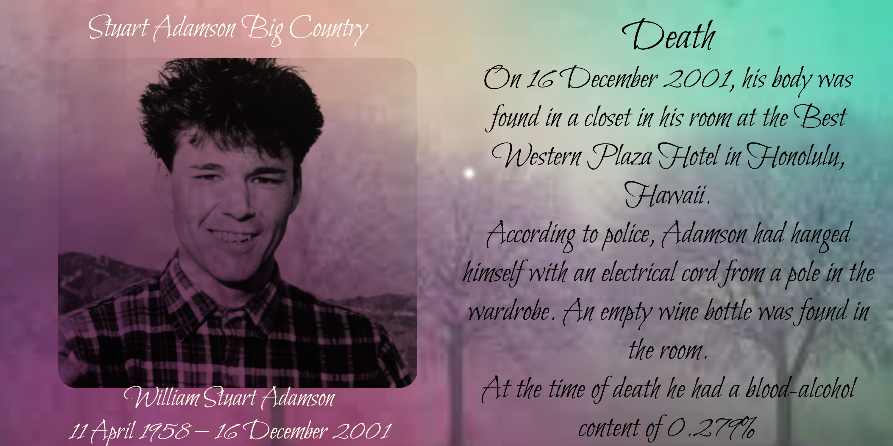 William Stuart Adamson Big country 2