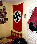 Copeland's bedroom was draped in Nazi flags.png