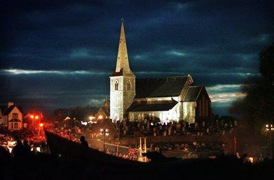 drumcree church at night