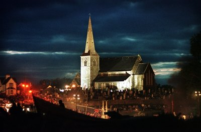 drumcree church at night