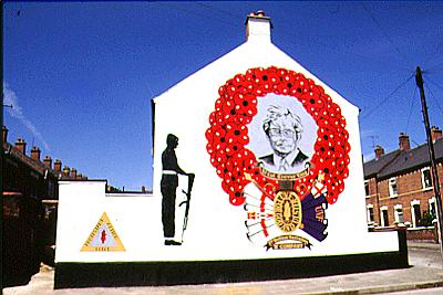 Trevor King UVF Mural