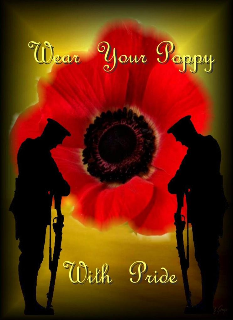 War Remembrance Day Poppy - Wear it with PRIDE. In ...