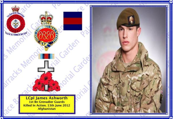 Cpl James Ashworth 1st Battalion Grenadier Guards killed in Action Afghanistan 13 June 2012