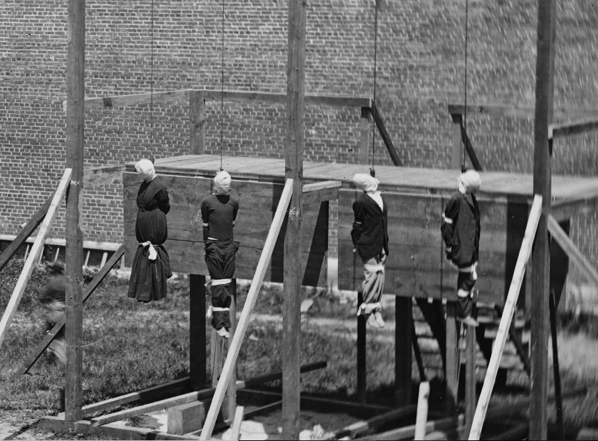 Execution of the Lincoln conspirators, 1865