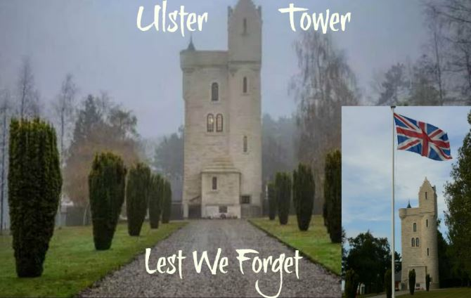 ulster tower with text